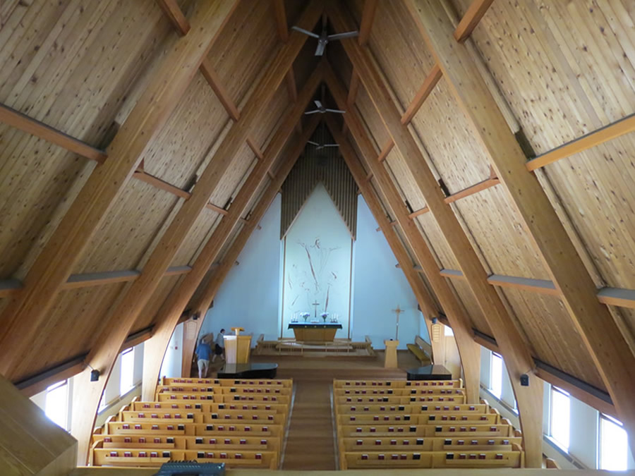 Inside St. Johns Latvian Lutheran Church