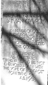 St Johns Latvian Memorial Message